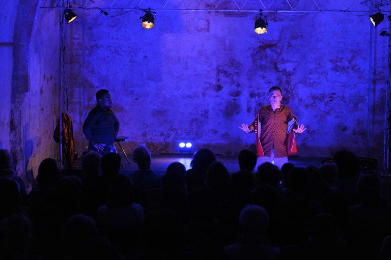 Ilunga Mbidi (Chemins de vie), spectacle de Cédric Mulamba et Richard Golleau au Cellier le 16 novembre 2018 © Sladjana Stankovic